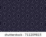 abstract geometric pattern with ... | Shutterstock .eps vector #711209815