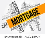 mortgage word cloud collage ... | Shutterstock .eps vector #711215974