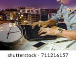 office worker are working...   Shutterstock . vector #711216157
