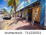 usa. florida. miami beach ... | Shutterstock . vector #711220321