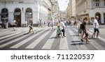 crowd of anonymous people... | Shutterstock . vector #711220537