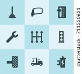 set of 9 repair filled icons... | Shutterstock .eps vector #711220621