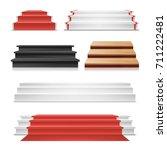 winner podium set vector. red... | Shutterstock .eps vector #711222481