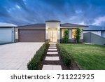 front elevation of a new modern ... | Shutterstock . vector #711222925