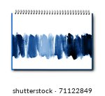 Abstract watercolor hand painted on book background - stock photo
