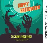 halloween party poster... | Shutterstock .eps vector #711238267