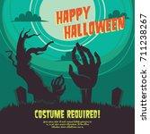 halloween party poster... | Shutterstock .eps vector #711238267