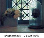scary mystic still life with... | Shutterstock . vector #711254041