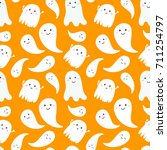 seamless pattern with cute... | Shutterstock .eps vector #711254797
