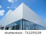 a modern factory building    Shutterstock . vector #711255139