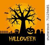 halloween tree | Shutterstock .eps vector #711256681