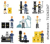 oil industry set  extraction ... | Shutterstock .eps vector #711262267