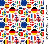 seamless political pattern with ... | Shutterstock . vector #711263995