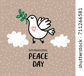 international peace day 21... | Shutterstock .eps vector #711266581