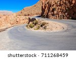 dades gorge is a gorge of the... | Shutterstock . vector #711268459