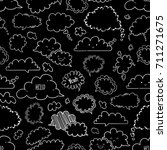 set of speech bubbles  vector... | Shutterstock .eps vector #711271675