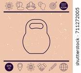 kettlebell line icon | Shutterstock .eps vector #711272005