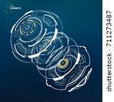 abstract vector circular... | Shutterstock .eps vector #711273487