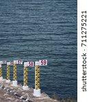 water level staff gauge ... | Shutterstock . vector #711275221