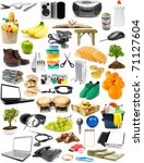 the big collection of different ... | Shutterstock . vector #71127604