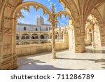 beautiful reticulated vaulting... | Shutterstock . vector #711286789