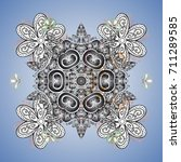colorful snowflakes for... | Shutterstock .eps vector #711289585