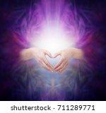 sacred healing energy   female... | Shutterstock . vector #711289771