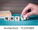 why. wooden letters on the... | Shutterstock . vector #711292885