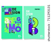 vector covers design set with... | Shutterstock .eps vector #711293131