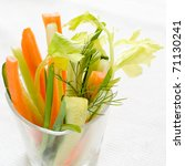 Delicious fresh vegetable appetizer - stock photo