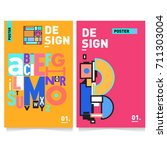 vector covers design set with... | Shutterstock .eps vector #711303004