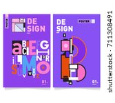 vector covers design set with... | Shutterstock .eps vector #711308491
