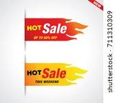 hot sale vector flaming labels...   Shutterstock .eps vector #711310309