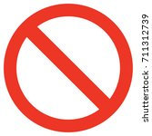 ban icon | Shutterstock .eps vector #711312739
