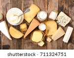 assorted dairy product | Shutterstock . vector #711324751