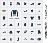 vector illustration set of... | Shutterstock .eps vector #711325369