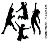 kids jump vector | Shutterstock .eps vector #711326125