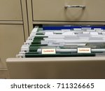 Small photo of Full of file paperwork in filing cabinet in the office. Confidential files. Business concept.
