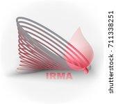 stylized hurricane  tornado ... | Shutterstock .eps vector #711338251