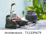 Small photo of Adorable Shiv-ling of Lord Shiva for Worshiping.