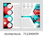 abstract vector layout... | Shutterstock .eps vector #711340459