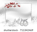 blank label with two silver... | Shutterstock .eps vector #711342469