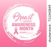 breast cancer awareness month.... | Shutterstock .eps vector #711343849