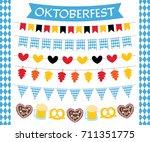 oktoberfest vector flags and... | Shutterstock .eps vector #711351775