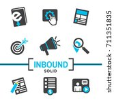 inbound marketing vector icons... | Shutterstock .eps vector #711351835