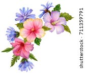 watercolor composition with... | Shutterstock . vector #711359791