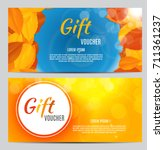 autumn gift voucher template... | Shutterstock .eps vector #711361237