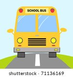 school bus on road | Shutterstock . vector #71136169