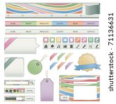 web buttons  navigation bar ... | Shutterstock .eps vector #71136631
