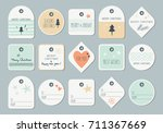 set of decorative christmas tags | Shutterstock .eps vector #711367669